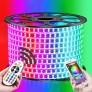 BANDA LED 220V 5050 DUBLA SMD 12W/ML LUPA RGB