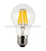BEC LED E27 8W A60 DIMABIL LUMINA NEUTRA