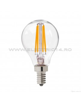 BEC LED E14 4W SFERIC DIMABIL LUMINA CALDA