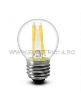 BEC LED E27 4W SFERIC DIMABIL LUMINA CALDA