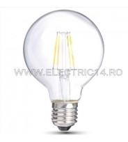 BEC LED E27 4W G95 DIMABIL LUMINA CALDA