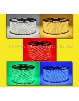 BANDA LED 220V 5050 SMD 14.4W/ML ALBASTRA