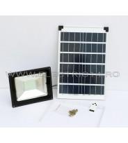Proiector Led 50w Panou Solar Lumina Rece