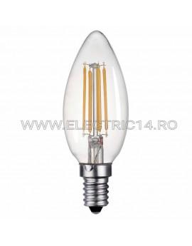 BEC LED E14 4W LUMANARE DIMABIL LUMINA CALDA