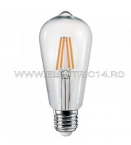 BEC LED E27 4W ST64 DIMABIL LUMINA CALDA