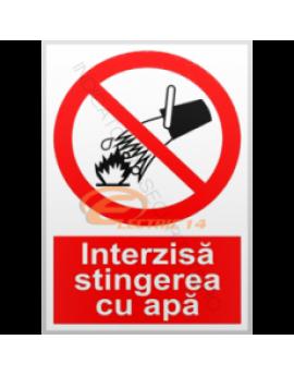 AUTOCOLANT INDICATOR INTERZISA STINGEREA CU APA 6 X 8 CM ( SET 25 BUC ETICHETE / COALA )
