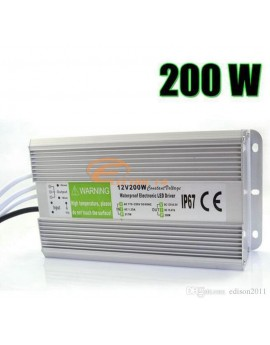 SURSA ALIMENTARE BANDA LED 16.5A 12V 200W IP67 WATERPROOF