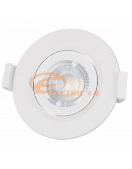 SPOT LED 3W ALB ROTUND ORIENTABIL LUMINA NEUTRA OPTIMUS