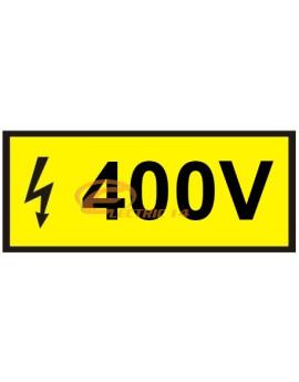 AUTOCOLANT INDICATOR 400V 8 X 3 CM ( SET 15 BUC ETICHETE / COALA )