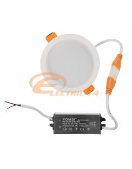 SPOT LED 6W ALB ROTUND IP54/3C LUMINA RECE + CALDA + NEUTRA SPOTURI LED