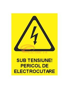 AUTOCOLANT INDICATOR INTERZISA SUB TENSIUNE 6 X 8 CM ( SET 25 BUC ETICHETE / COALA )