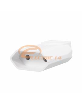 CUPLA PLATA (EURO) PVC ALB