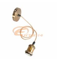 PENDUL DECORATIV E27 METALIC GOLD ANTIC  - GA