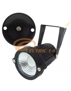 LAMPA GRADINA LED 5W COB NEGRU IP65 LUMINA ALBASTRA