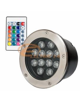 SPOT LED PAVAJ 12W 160MM RGB IP65 (INT.154MM) SPOTURI LED