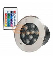 SPOT LED PAVAJ 9W 150MM RGB IP65 (INT.132MM)