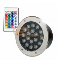SPOT LED PAVAJ 18W 200MM RGB IP65 (INT.186MM)