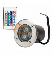 Spot Led Pavaj 3w 80mm RGB IP65 (int.74mm)