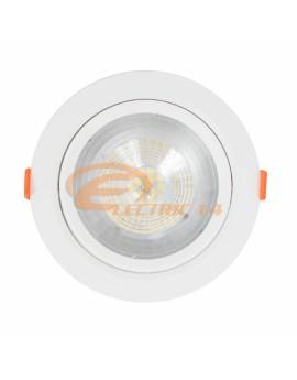 SPOT LED 12W ALB ROTUND PLASTIC REGLABIL LUMINA NEUTRA