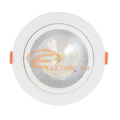SPOT LED 12W ALB ROTUND PLASTIC REGLABIL LUMINA RECE