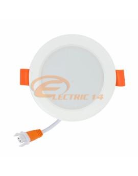 SPOT LED 6W ALB ROTUND PLASTIC INGROPAT 598 LUMINA NEUTRA