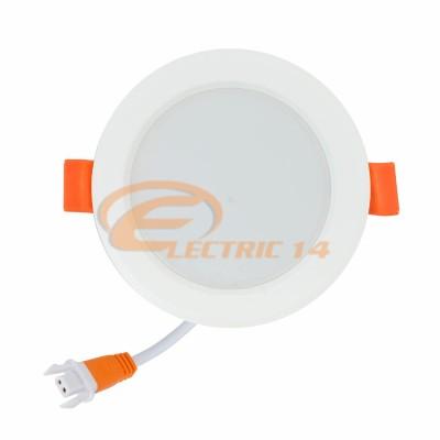 SPOT LED 6W ALB ROTUND PLASTIC INGROPAT 598 LUMINA RECE