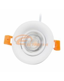 SPOT LED 7W ALB ROTUND 5152 COB REGLABIL LUMINA NEUTRA  SPOTURI LED