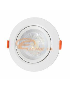 SPOT LED 9W ALB ROTUND PLASTIC REGLABIL LUMINA RECE