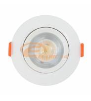 SPOT LED 7W ALB ROTUND PLASTIC REGLABIL LUMINA NEUTRA
