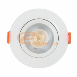 SPOT LED 7W ALB ROTUND PLASTIC REGLABIL LUMINA RECE