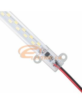 BANDA LED RIGIDA CU SUPORT 220V 6W IP40 / 0,5M LUMINA CALDA BANDA LED