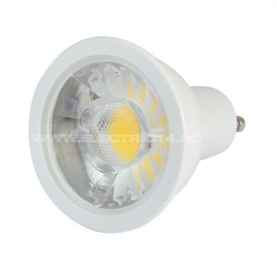BEC LED GU10 7W DIMABIL LUMINA RECE