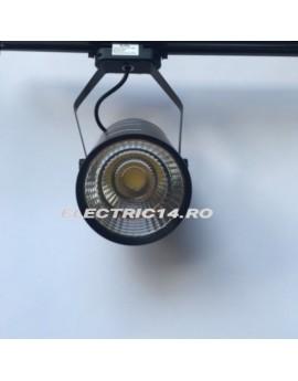 Spot Led Sina Negru 30w Cob Lumina Intermediara