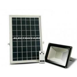 Proiector Led 20w Panou Solar Lumina Rece