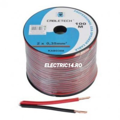 Cablu Difuzor 2x0.35mm Rosu/Negru Rola 100ml