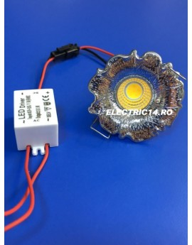 Spot Led 3w Mini GT-20 Crom Lumina Calda