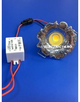 Spot Led 3w Mini GT-20 Crom Lumina Calda SPOTURI LED