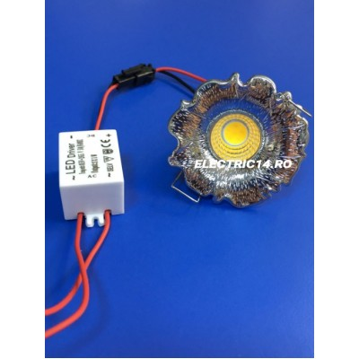 Spot Led 3w Mini GT-20 Crom Lumina Rece