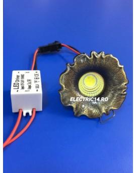 Spot Led 3w Mini GT-20 Bronz Lumina Calda SPOTURI LED