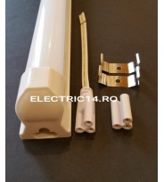 Tub Led T8+Suport 120cm 18w Plastic Mat Lumina Rece