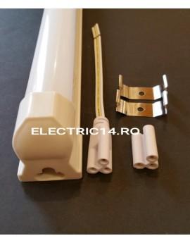 Tub Led T8+Suport 60cm 9w Plastic Mat Lumina Rece