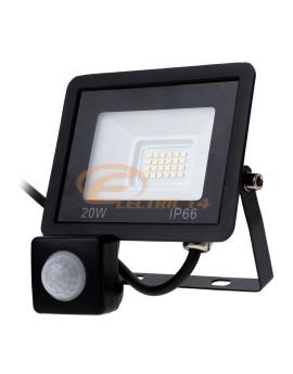 PROIECTOR LED 20W SMD SENZOR TABLETA IP66 LUMINA RECE