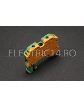 Regleta Sina DIN-MTK 4 mm Verde-Galben