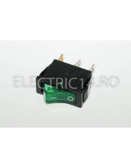Intrerupator 1 Mod simplu KCD3 Verde DIVERSE
