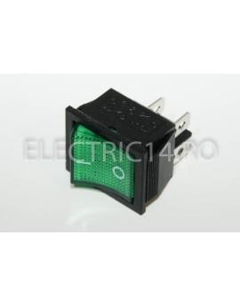 Intrerupator 2 Mod Simplu KCD4 Verde DIVERSE