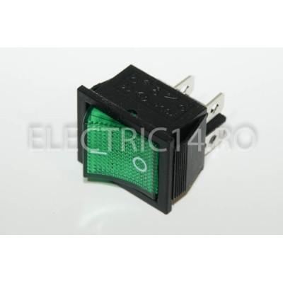 Intrerupator 2 Mod Simplu KCD4 Verde