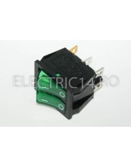 Intrerupator 2 Mod Dublu KCD8 Verde DIVERSE