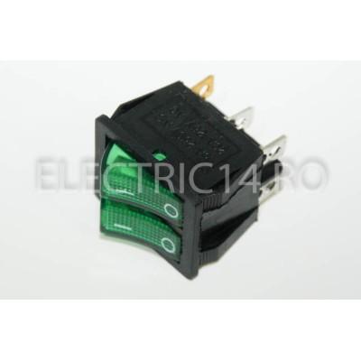 Intrerupator 2 Mod Dublu KCD8 Verde
