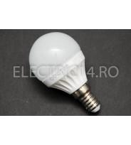 Bec Led E14 7w SMD Sferic P45 Lumina Calda Odosun