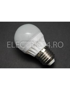 Bec Led E27 7w SMD Sferic P45 Lumina Calda Odosun